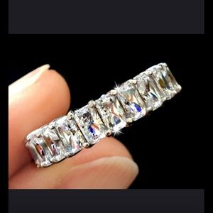 5 CT Radiant 925 Eternity Ring